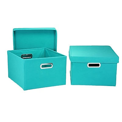 Household Essentials® KD Hard-Side Nested Box With Lid, Aqua