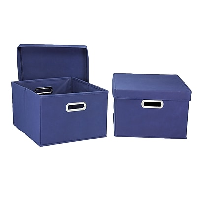 Household Essentials® Hard-Side Nested Box With Lid, Navy
