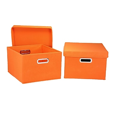 Household Essentials® Hard-Side Nested Box With Lid, Orange