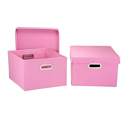 Household Essentials® Hard-Side Nested Box With Lid, Pink