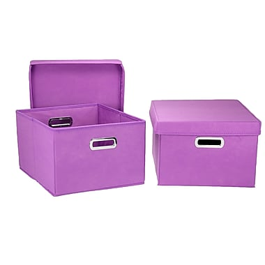 Household Essentials® Hard-Side Nested Box With Lid, Purple