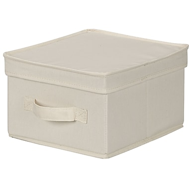 Household Essentials® Medium Lidded Storage Box, Natural