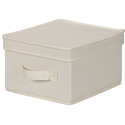 Household Essentials® Medium Lidded Storage Box, Natural
