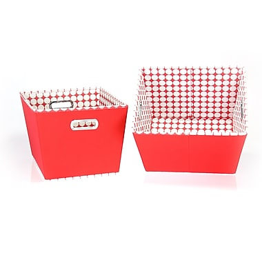 Household Essentials® Two-Toned Medium Tapered Bin, Red