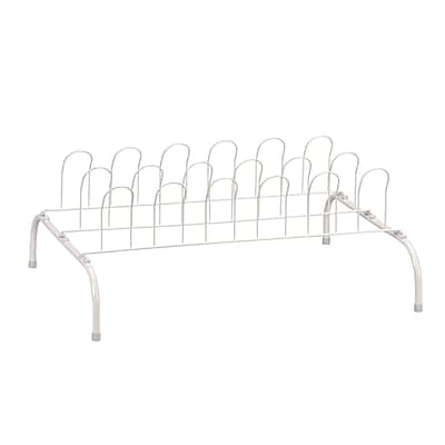 Household Essentials® 9-Pair Wire Shoe Rack, White