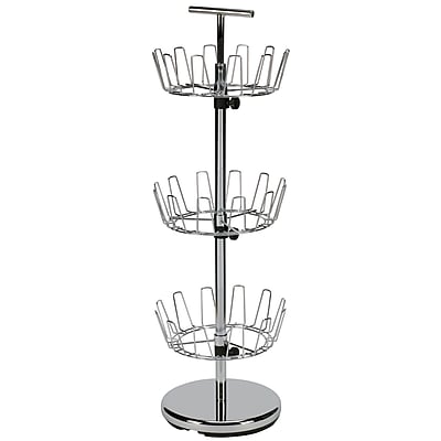 Household Essentials® 3-Tier Revolving Shoe Tree, Chrome
