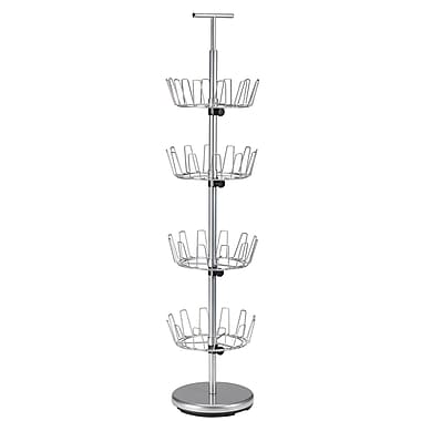 Household Essentials® 4-Tier Revolving Shoe Tree, Satin Silver