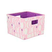 Household Essentials® Bright Color Two-Toned Open Storage Bins, Pink/ Purple