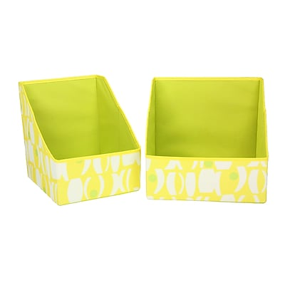 Household Essentials® Bright Color Two-Toned Accessory Bin, Yellow/Lime