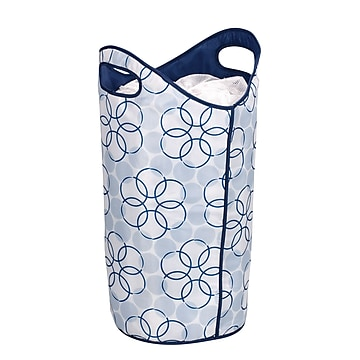 Household Essentials® Tote / Hamper With Magic Rings, Blue (2500)