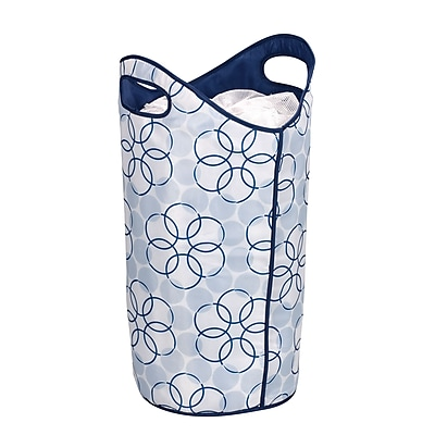 Household Essentials® Tote / Hamper With Magic Rings, Blue