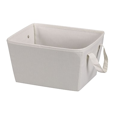 Household Essentials® Canvas Small Tapered Bin, Natural