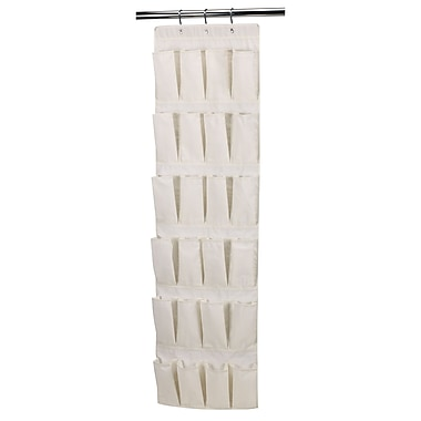 Household Essentials® Over-the-Door Shoe Organizer With 24 Pockets, Natural