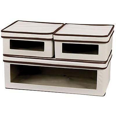 Household Essentials® 3-Piece Vision Storage Box Set, Natural