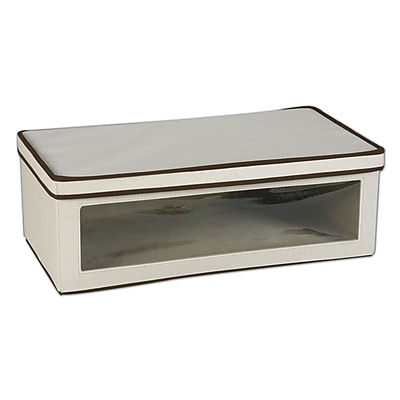 Household Essentials® Large Vision® Storage Box, Natural/Brown