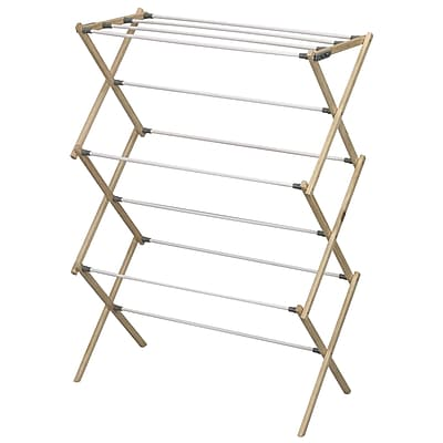 Household Essentials® Pine Wood Foldable Drying Rack