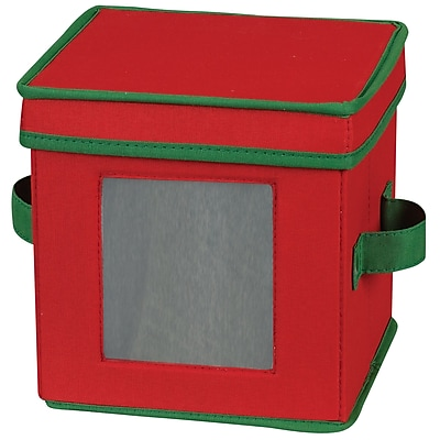 Household Essentials Holiday Saucer Chest, Red/Green 37474