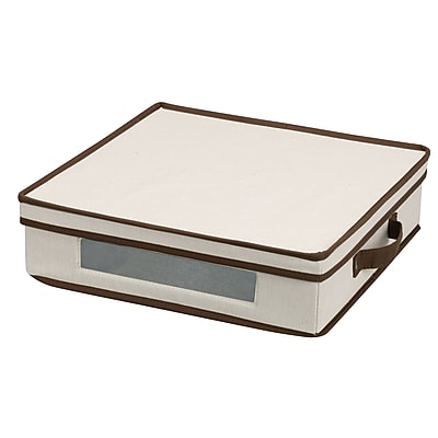 Household Essentials® Charger Plate Storage Chest, Natural
