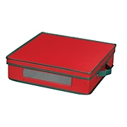 Household Essentials® Holiday Charger Plate Storage Chest, Red (537RED)