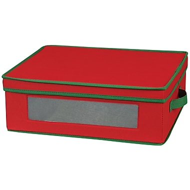 Household Essentials® Holiday China Cup Chest, Red/Green