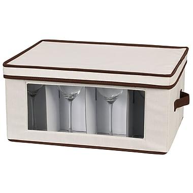 Household Essentials® Stemware Goblet Storage Chest, Natural