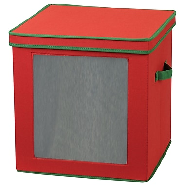 Household Essentials® 27-Piece Ornament Storage Box, Red