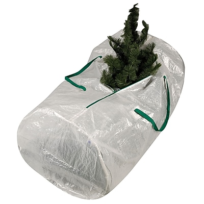 Household Essentials® Mighty Stor® Christmas Tree Bag With Green Trim, Translucent