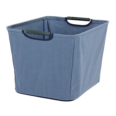 Household Essentials® Medium Tapered Bin, Blue