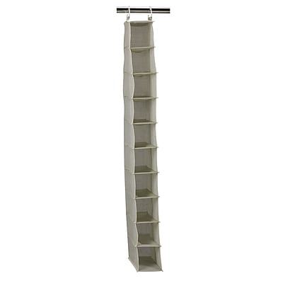 Household Essentials® Hanging Shoe Organizer With 10 Pockets, Tea and Fog