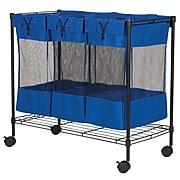 Household Essentials® Triple Storage Bin, Black (7119)