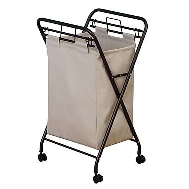 Household Essentials® Rolling Hamper With Removable Bag, Antique Bronze