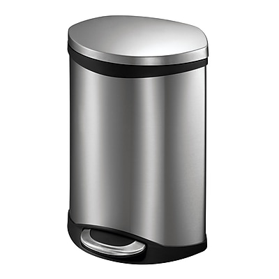 Household Essentials 1.5 gal. Stainless Steel Trash Can with Lid, Silver