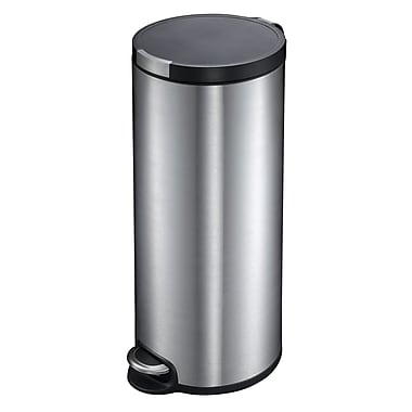 Household Essentials EKO 7.92 gal. Stainless Steel Trash Can with Lid, Silver