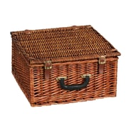 Household Essentials® Lined Square Shaped Basket, Willow Picnic