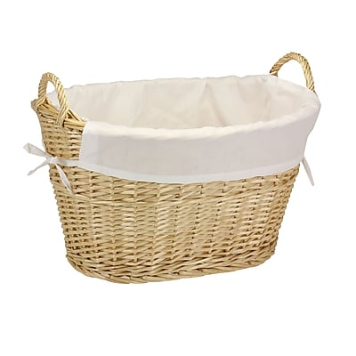 Household Essentials® Willow Laundry Basket With Cotton Liner, Natural