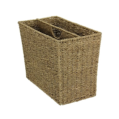 Household Essentials® Woven Seagrass Side-by-Side Magazine Rack