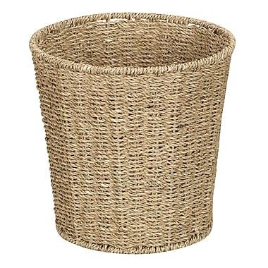 Household Essentials® Woven Seagrass Waste Bin, Natural