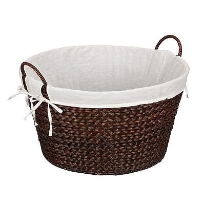 Household Essentials® Round Banana Leaf Laundry Basket, Dark Brown