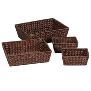 Household Essentials® Banana Leaf Bowl, Brown, 4/Set