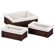 Household Essentials® Paper Rope Utility Basket, Dark Brown, 3/Set (ML-7021)