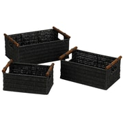 Household Essentials® Paper Rope Baskets With Wood Handles