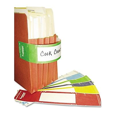 Tabbies® File Pocket Handles, 4 Handles/Sheet, Green/White, 9 5/8