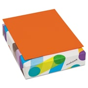 "Mohawk BriteHue Multipurpose Colored Paper, 8 1/2"" x 11"", Orange, 500 Sheets/Ream"