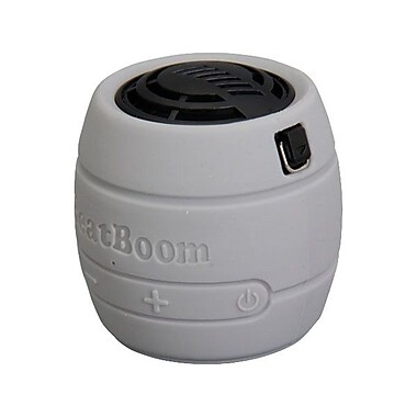 MicroNet® BeatBoom 3000 Portable Wireless Bluetooth Speaker With Built-in Speakerphone, Silver/Black