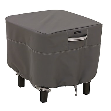 Classic Accessories® Ravenna® Patio Square Ottoman Cover, Dark Taupe, Small