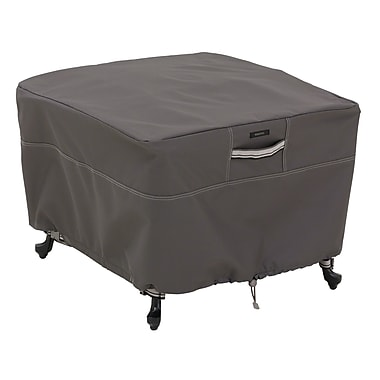 Classic Accessories® Ravenna® Patio Square Ottoman Cover, Dark Taupe, Large