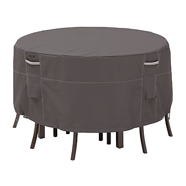 Classic Accessories® Ravenna® Patio Table and Chair Set Covers, Dark Taupe, Tall
