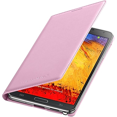 Samsung Leather Cover Note 3 Case, Pink