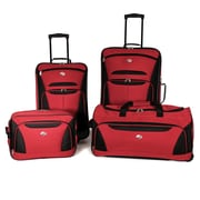 American Tourister® Fieldbrook II 56444 4-Piece Luggage Set, Red/Black