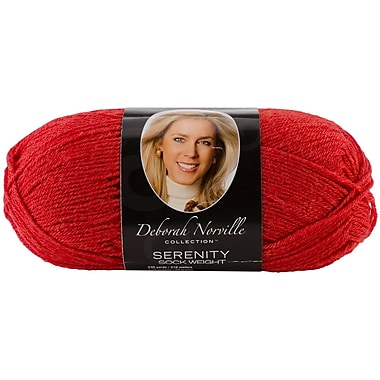 Deborah Norville Collection Serenity Sock Yarn Solids, Red